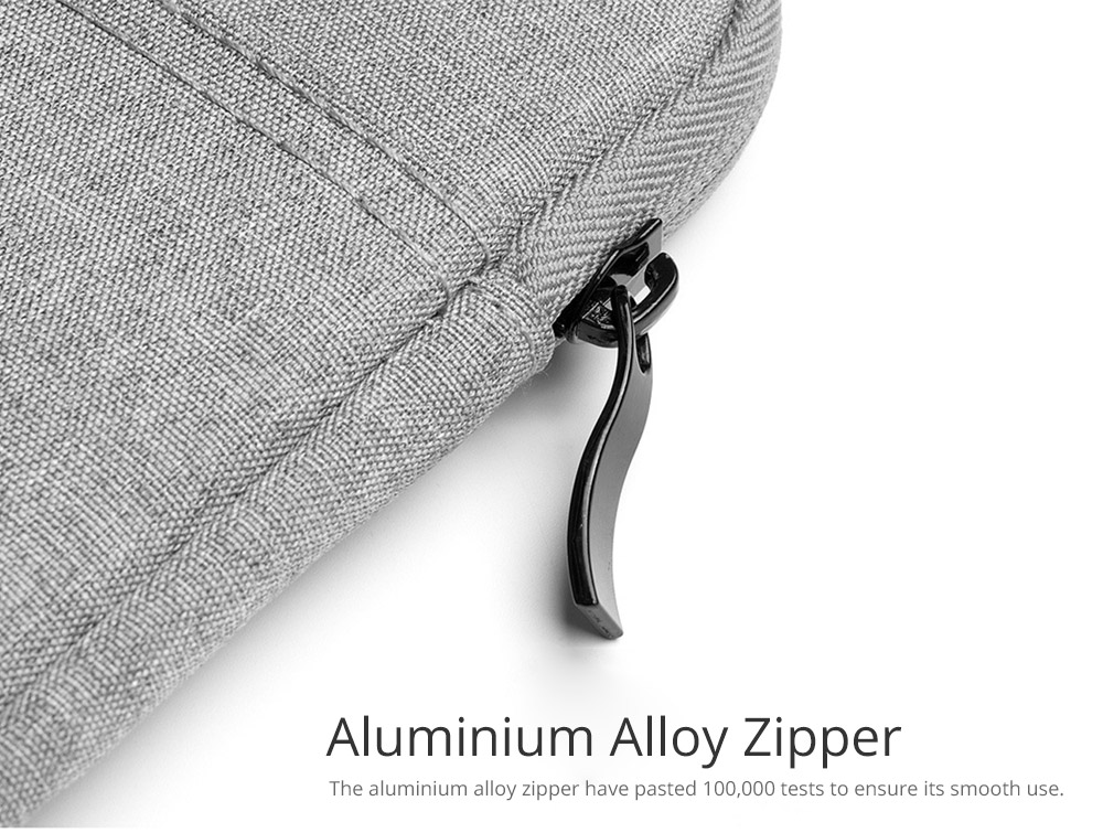 with Aluminium Alloy Zipper