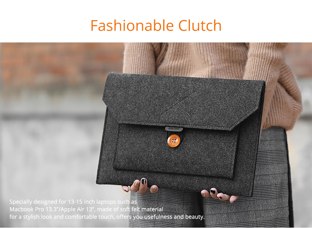 Fashionable Briefcase 13-15 inch Laptop Accessories Laptop Case Cover, Durable Clutch Handbag fits for Macbook Pro 13.3'' Apple Air 13'' 5
