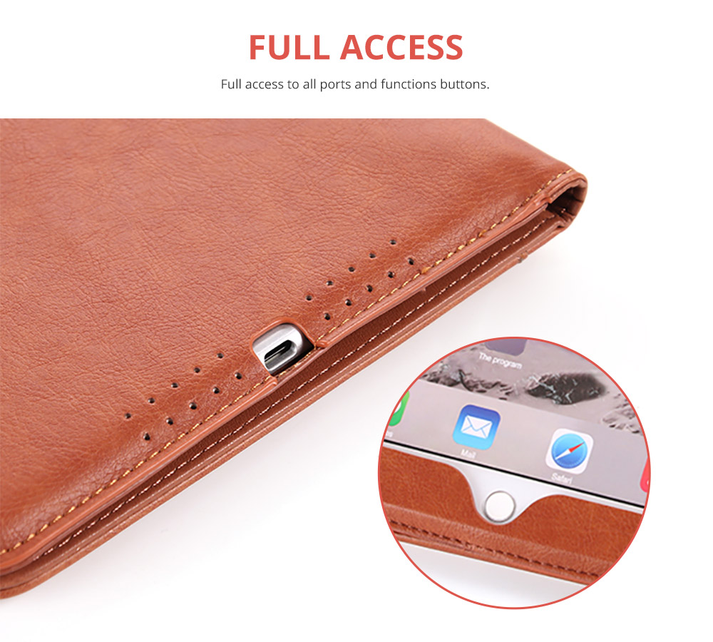 Leather Smart Stand Folio Business Wallet Case Cover for iPad 1/2/3/4 iPad Mini iPad Air 1/2 13