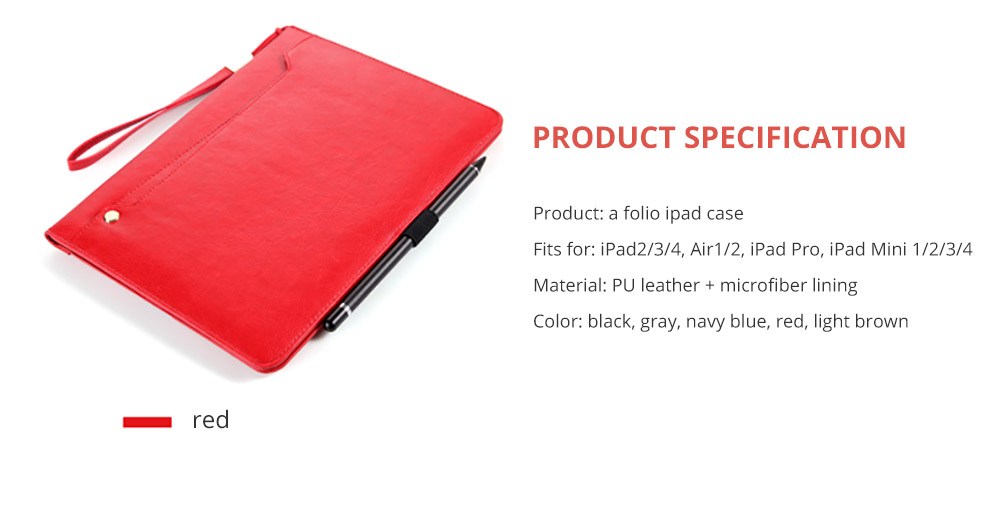 Leather Smart Stand Folio Business Wallet Case Cover for iPad 1/2/3/4 iPad Mini iPad Air 1/2 18