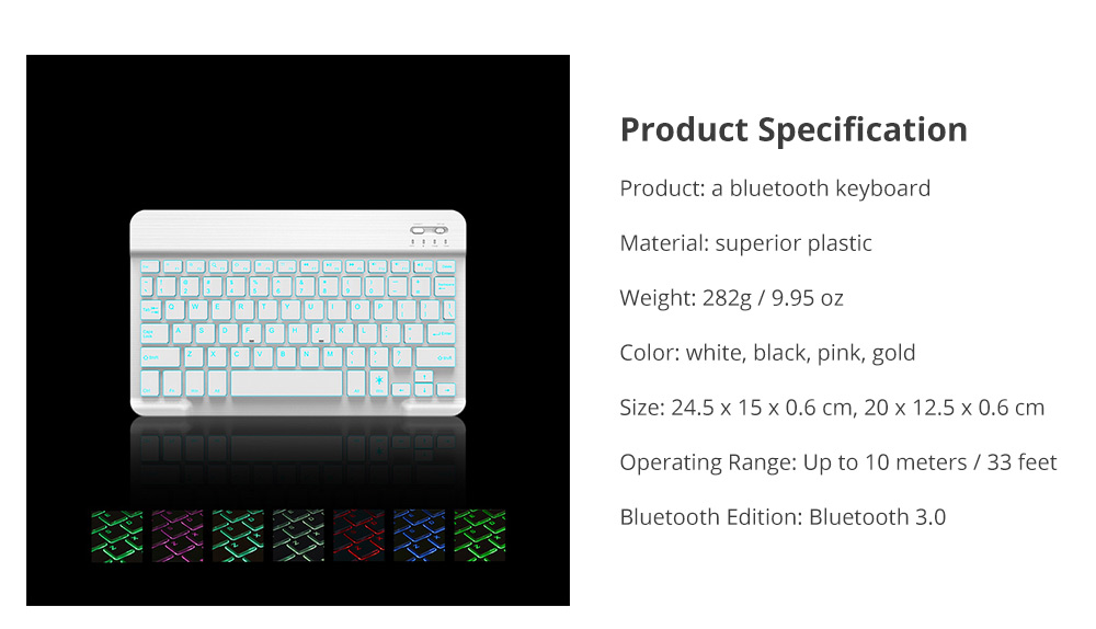 iPad Bluetooth Keyboard Specification