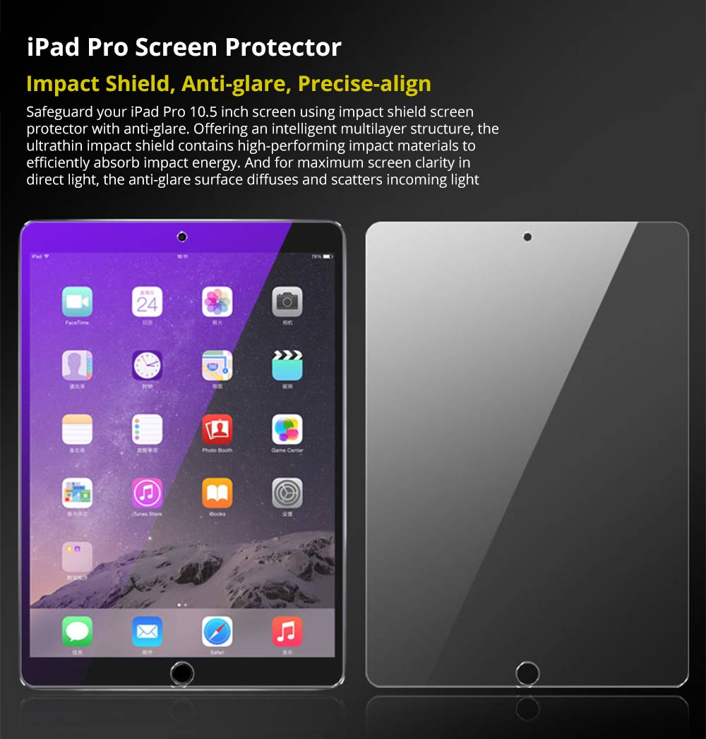 Impact Shield Anti-glare with Precise-align Applicator Screen Protector for 10.5 inch iPad Pro