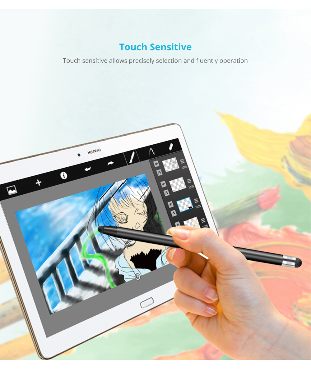 Laptop Cellphone Universal Stylus Compatible for Kindle Touch ipad iphone 6/6s 6Plus 6s Plus Samsung S5 S6 S7 Edge S8 Plus iPad Pro Note Screen Touch Sensitive 7