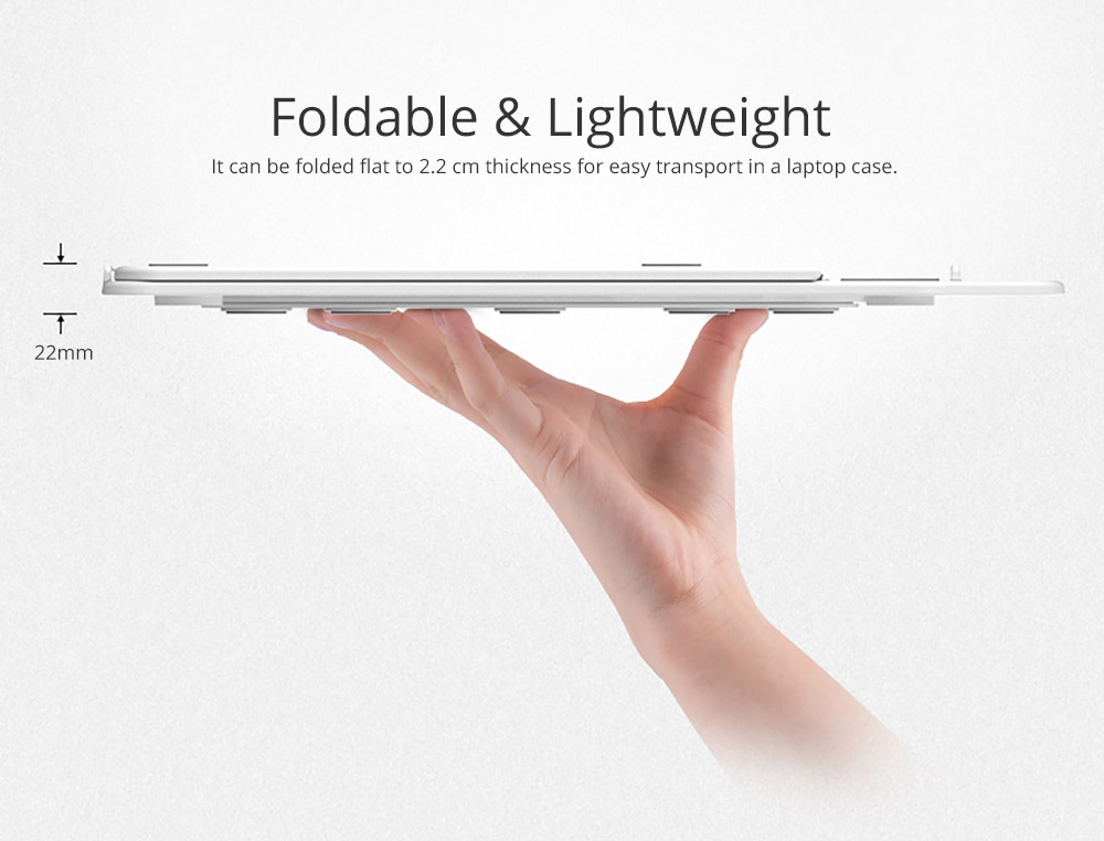 Ultra-slim Portable Laptop Holder, Durable Foldable Adjustable Laptop Stand Compatoble with Kindle, iPad Mini/Air/Pro, MacBook Air/Pro, Dell XPS, Samsung, HP and More 10