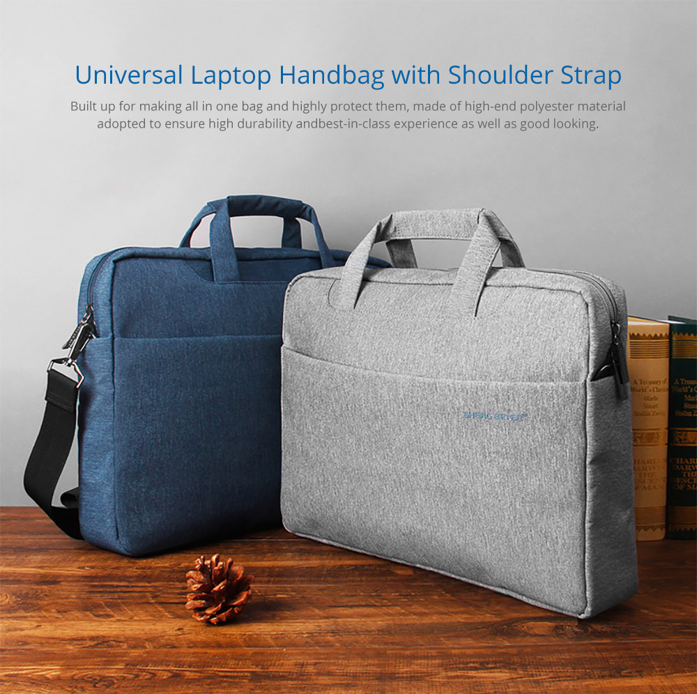 Universal Laptop Handbag with Shoulder Strap