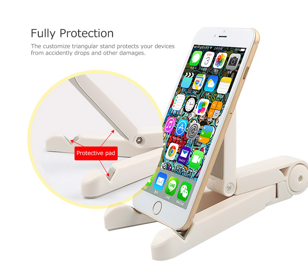 Adjustable Triangle Cellphone Tablet Holder, Foldable Multi-angle Stand for Tablet, iPad Mini, iPad Pro, iPad Air, Kindle, Phone X/XS/MAX 8/Plus, Galaxy S9/S9 Plus/S8/S7 10