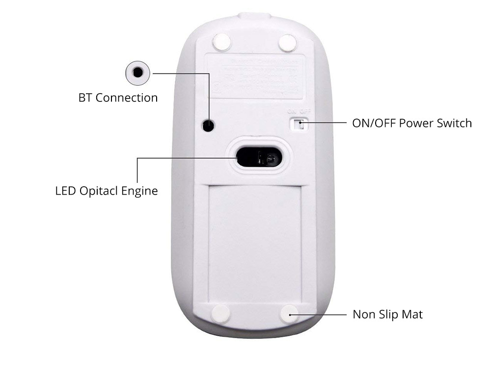 Rechargeable Mobile Optional Bluetooth Mouse