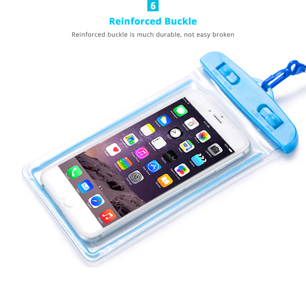 Universal Waterproof Cellphone Pouch Case with Lanyard, Water Resistant Phone Cover Holder for iPhone X, iPhne 8/Plus, iPhone 7/Plus, Samsung Galaxy S7/S6/S5, Note 5/4/3, Google Pixel 13