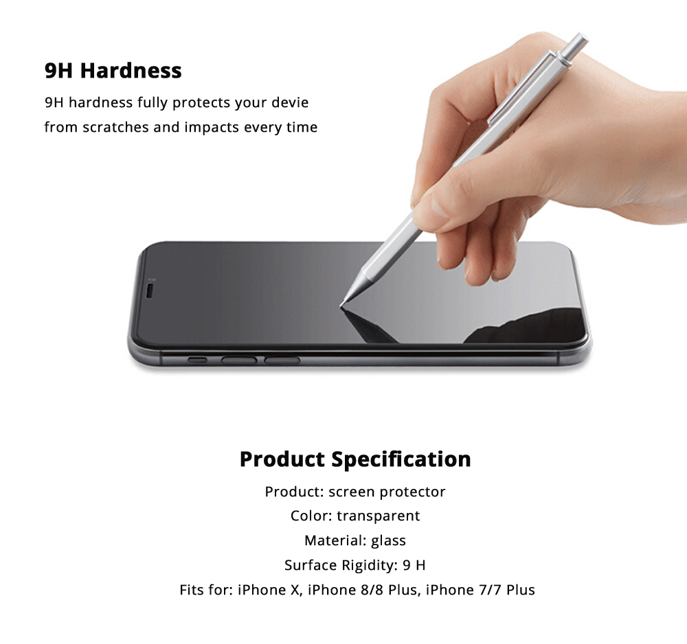 Impact Shield Anti-glare Precise-align Perfect Fit Screen Protector for iPhone X, iPhone 8/8 Plus, iPhone 7/7 Plus Protective Screen Skin Protector 13