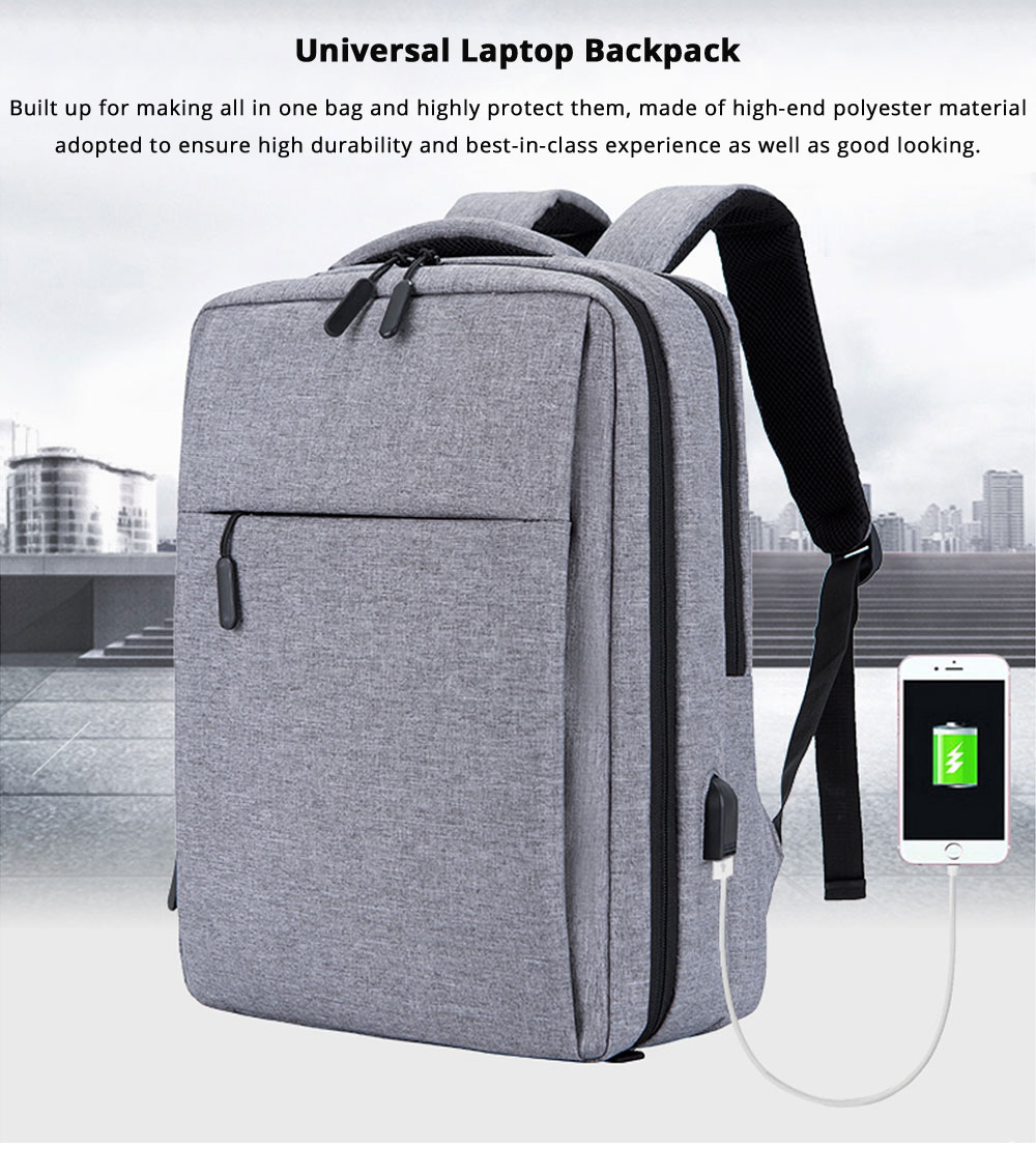 Classic Notebook Backpack, Durable Universal Briefcase for Macbook Air/Pro or other Laptops Shoulders Bag, 12-17.3 inch 6