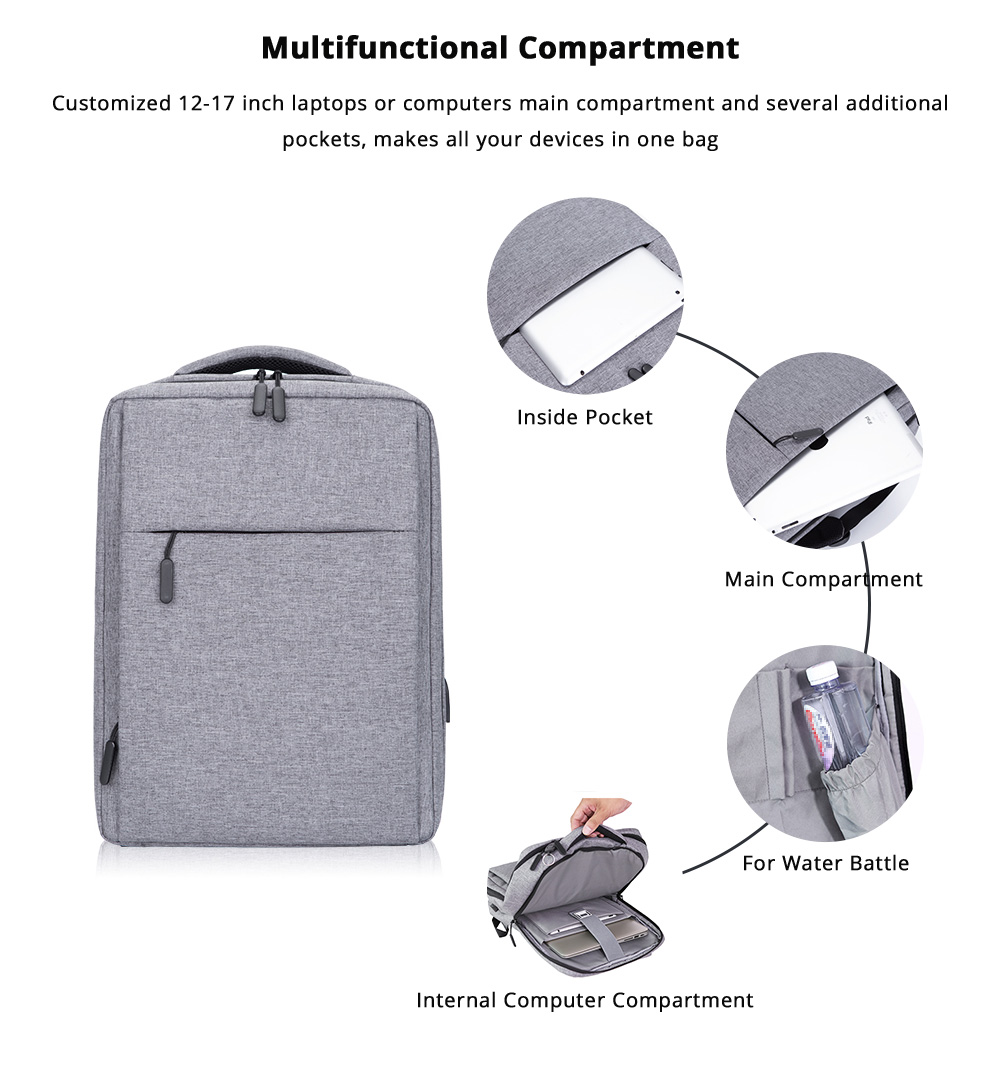 Classic Notebook Backpack, Durable Universal Briefcase for Macbook Air/Pro or other Laptops Shoulders Bag, 12-17.3 inch 7