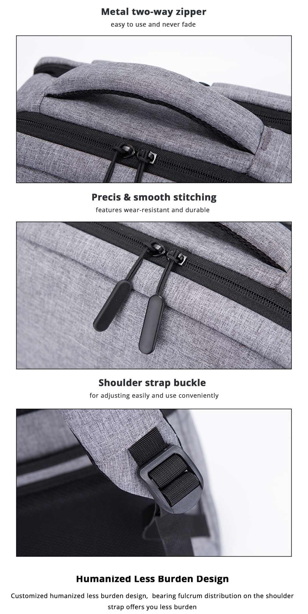 Metal two-way zipper