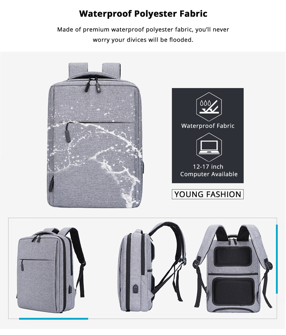 Classic Notebook Backpack, Durable Universal Briefcase for Macbook Air/Pro or other Laptops Shoulders Bag, 12-17.3 inch 12