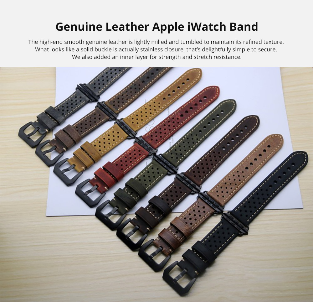 Genuine Leather Apple iWatch Band