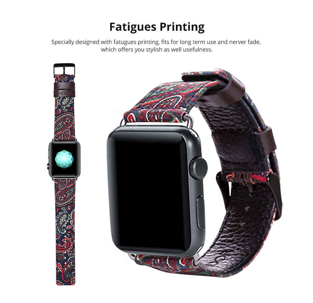 Apple iWatch band with Fatigues Printing