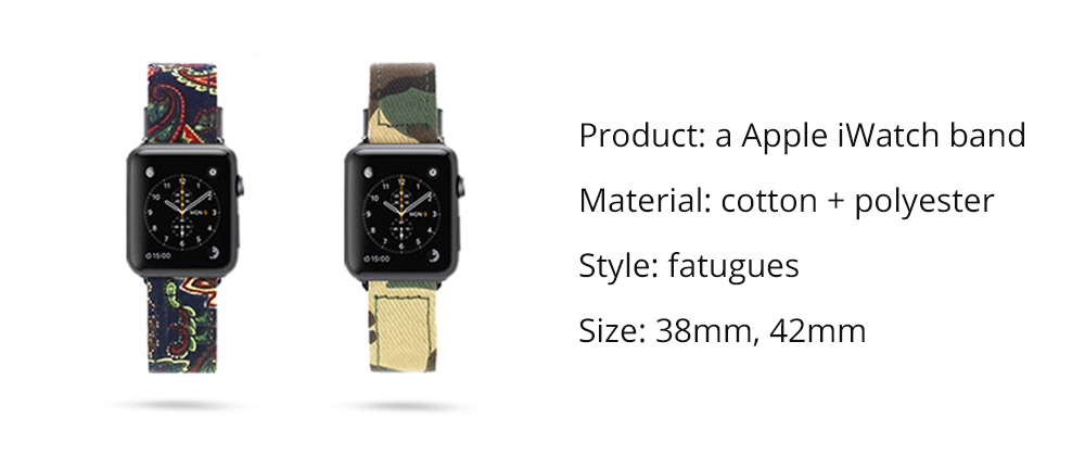 38mm 42mm iWatch Replacement Strap