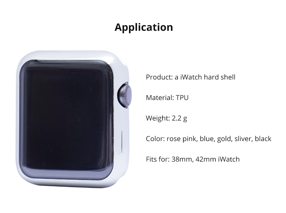 Superior Flexible TPU Protective Case Compatible with Apple iWatch Anti-impact Anti-Scratch Soft Cover for Apple iWatch 14