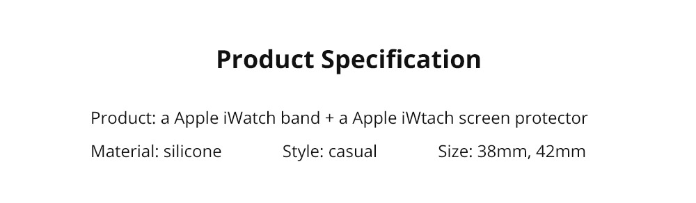 Superior Silicone Watch Band with Protective Screen Case for Apple iWatch Breathable Replacement Strap with Screen Protector 38mm 42mm  11