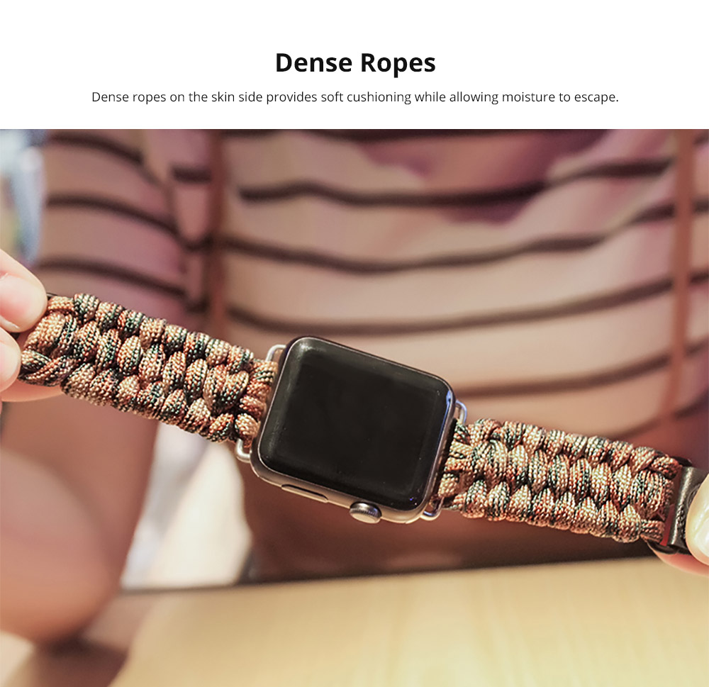 Apple iWatch Replacement Watch Band with Dense Ropes