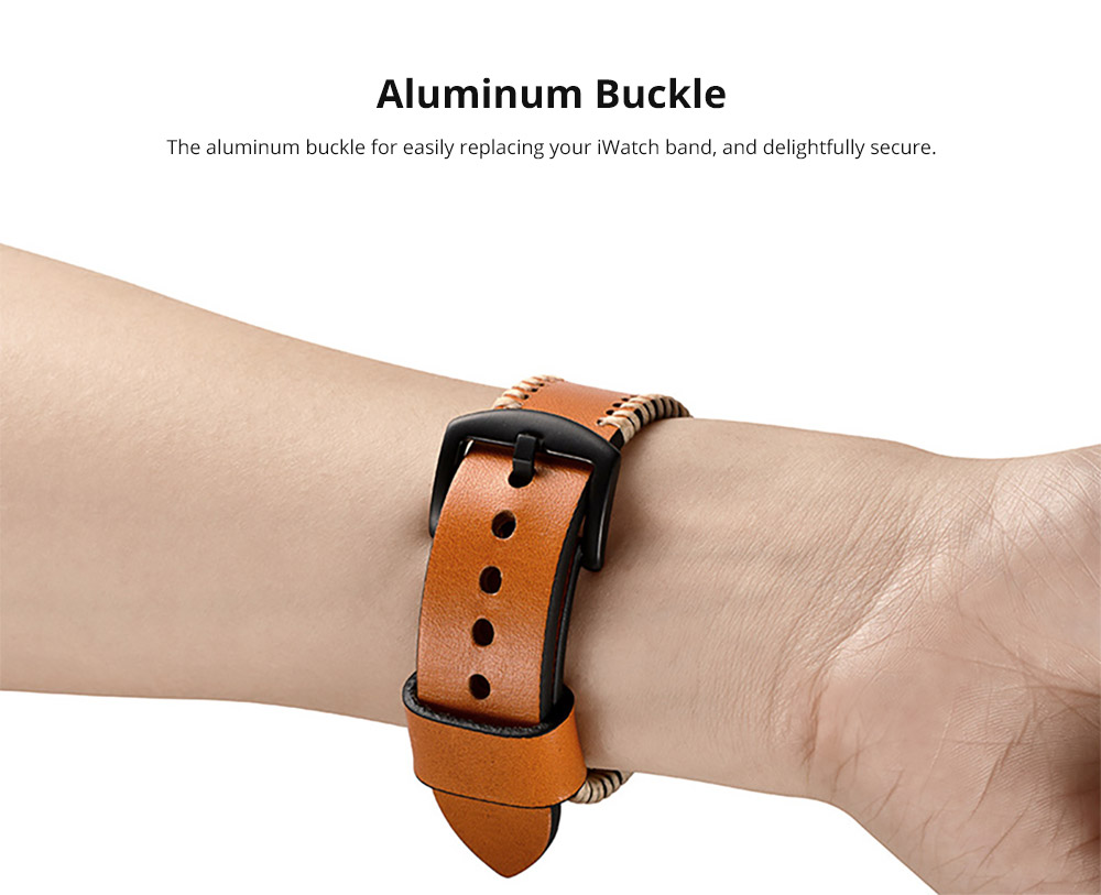 Apple iWatch band with Aluminum Buckle