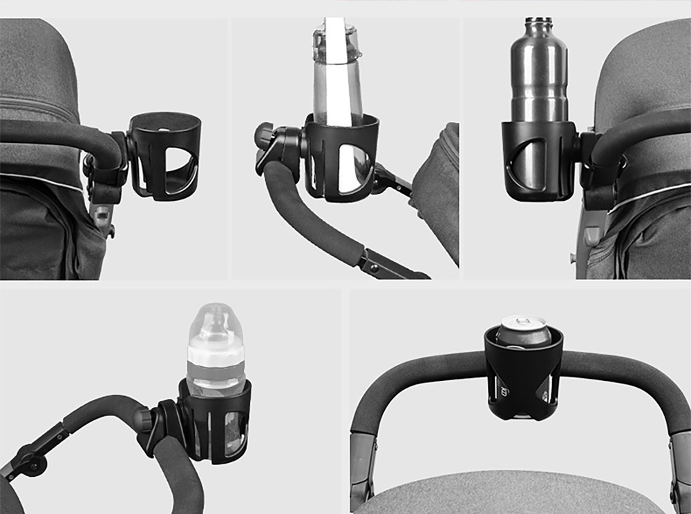 Stroller Accessories Superior ABS Anti-slid Adjustable Universal Stroller Cup Holder Baby Bottle Organizer Compatible with Baby Stroller 9