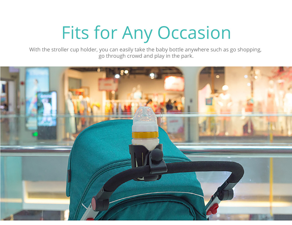 Stroller Accessories Superior ABS Anti-slid Adjustable Universal Stroller Cup Holder Baby Bottle Organizer Compatible with Baby Stroller 11
