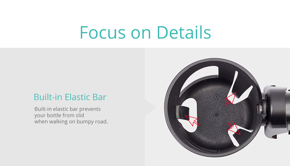 Stroller Accessories Superior ABS Anti-slid Adjustable Universal Stroller Cup Holder Baby Bottle Organizer Compatible with Baby Stroller 13