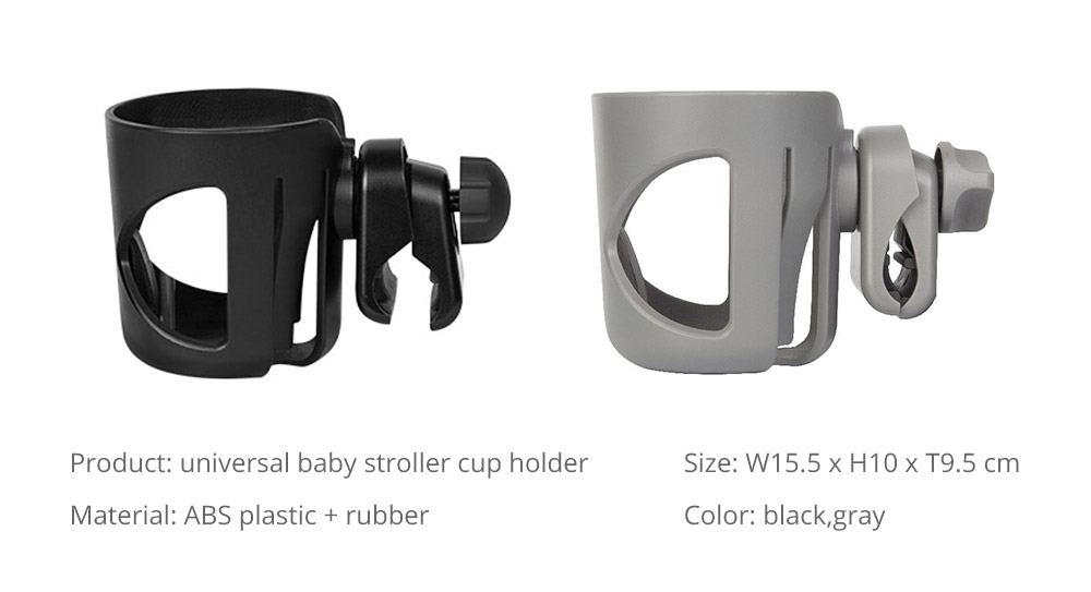 Stroller Accessories Superior ABS Anti-slid Adjustable Universal Stroller Cup Holder Baby Bottle Organizer Compatible with Baby Stroller 16
