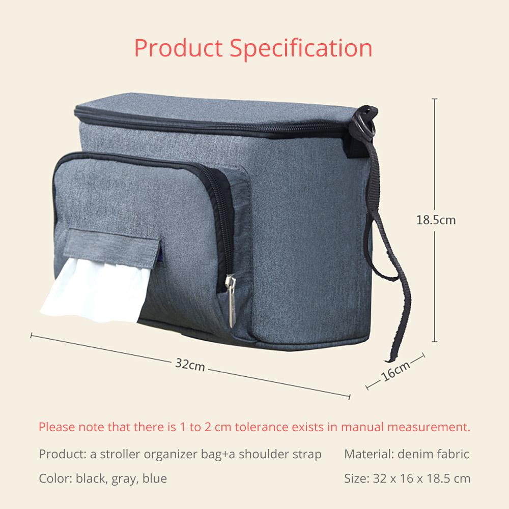 a stroller organizer bag + a shoulder strap