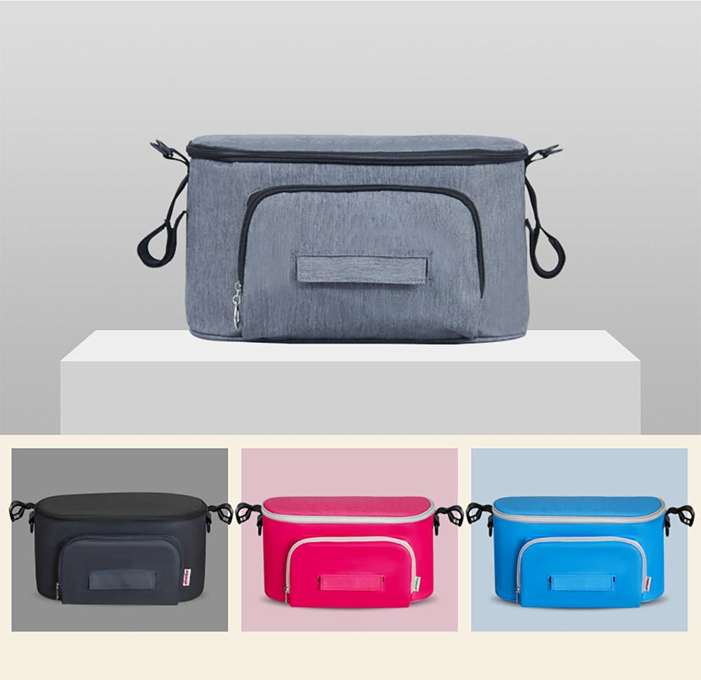 a stroller organizer bag & a shoulder strap