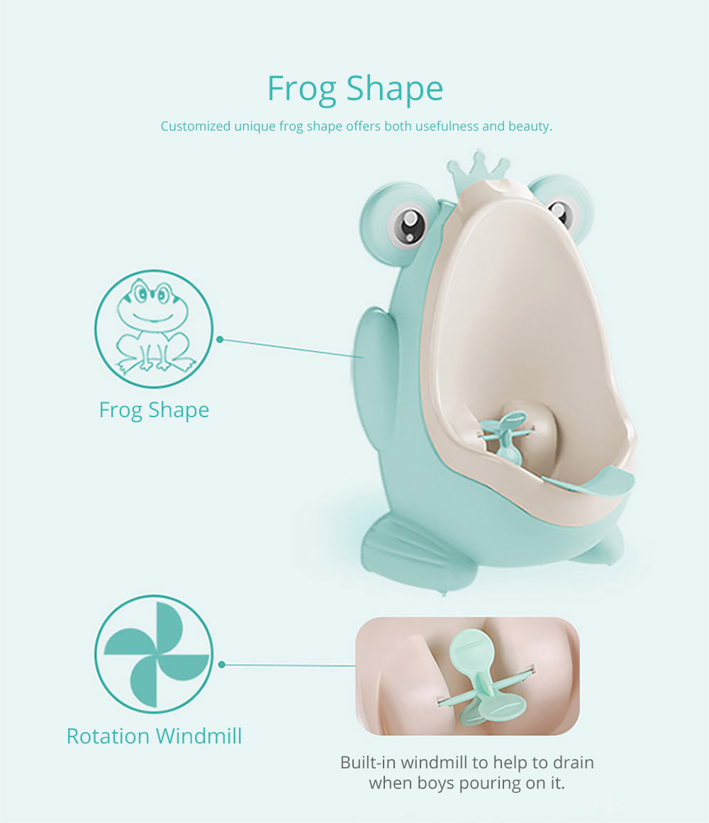 2 in 1 Unique Frog Toilet Trainer, Boys Toilet Training Standup Potty, Mini Hanging Closestool Potty Training 6
