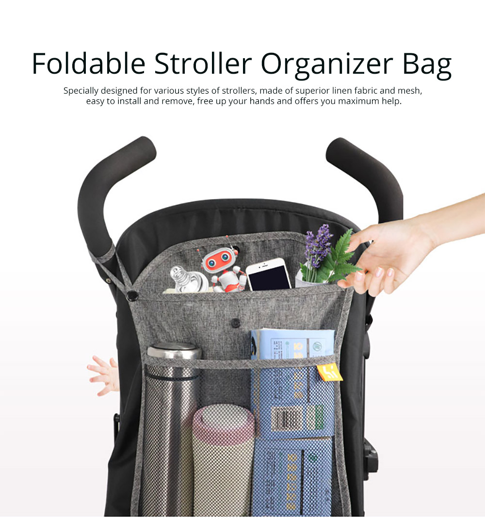 Foldable Stroller Organizer Bag