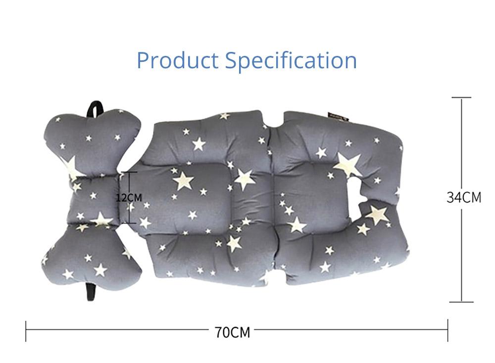 a baby stroller cushion