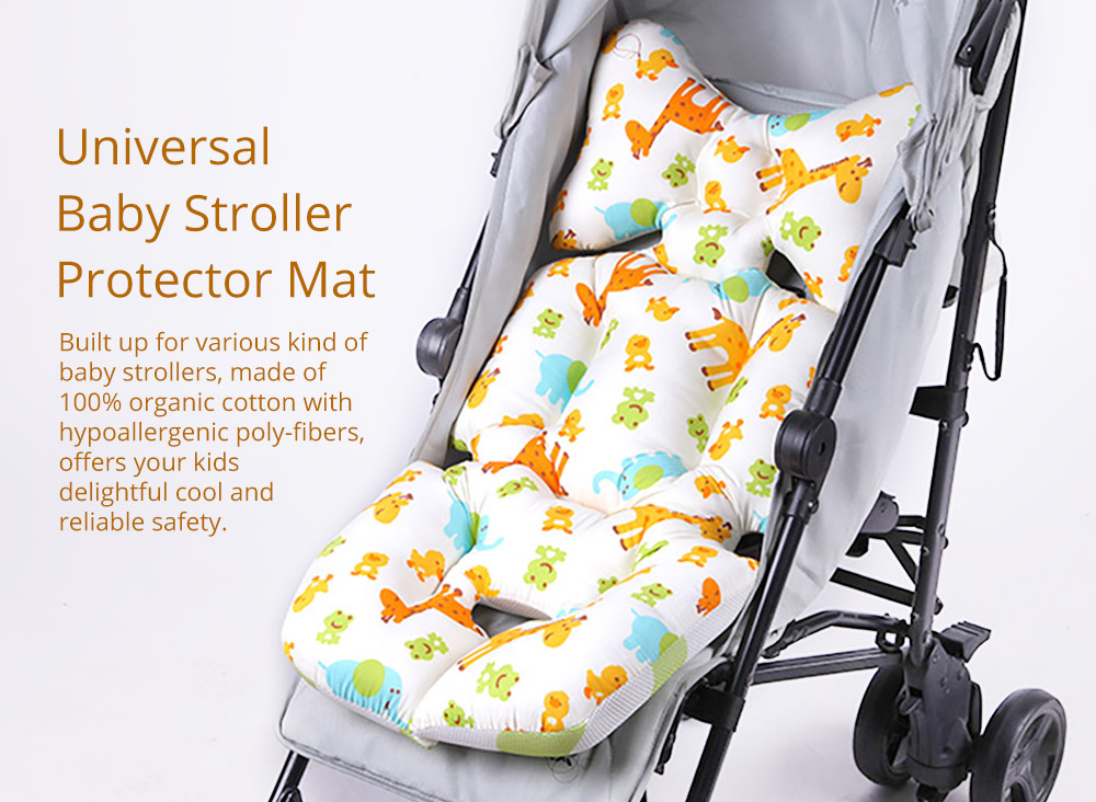 Baby Carriages Cotton Cushion, Baby Stroller Soft Pad Universal Baby Stroller Comfortable Protector Mat, Stroller Accessories Sleeping Cotton Mat 5