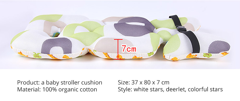 Baby Carriages Cotton Cushion, Baby Stroller Soft Pad Universal Baby Stroller Comfortable Protector Mat, Stroller Accessories Sleeping Cotton Mat 14