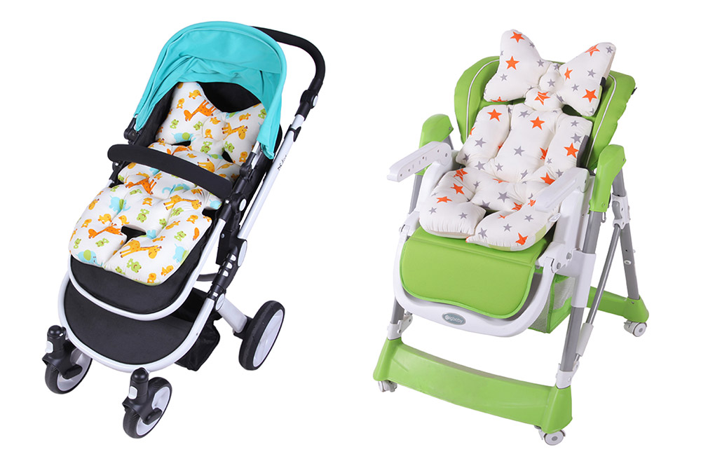 Baby Carriages Cotton Cushion, Baby Stroller Soft Pad Universal Baby Stroller Comfortable Protector Mat, Stroller Accessories Sleeping Cotton Mat 16