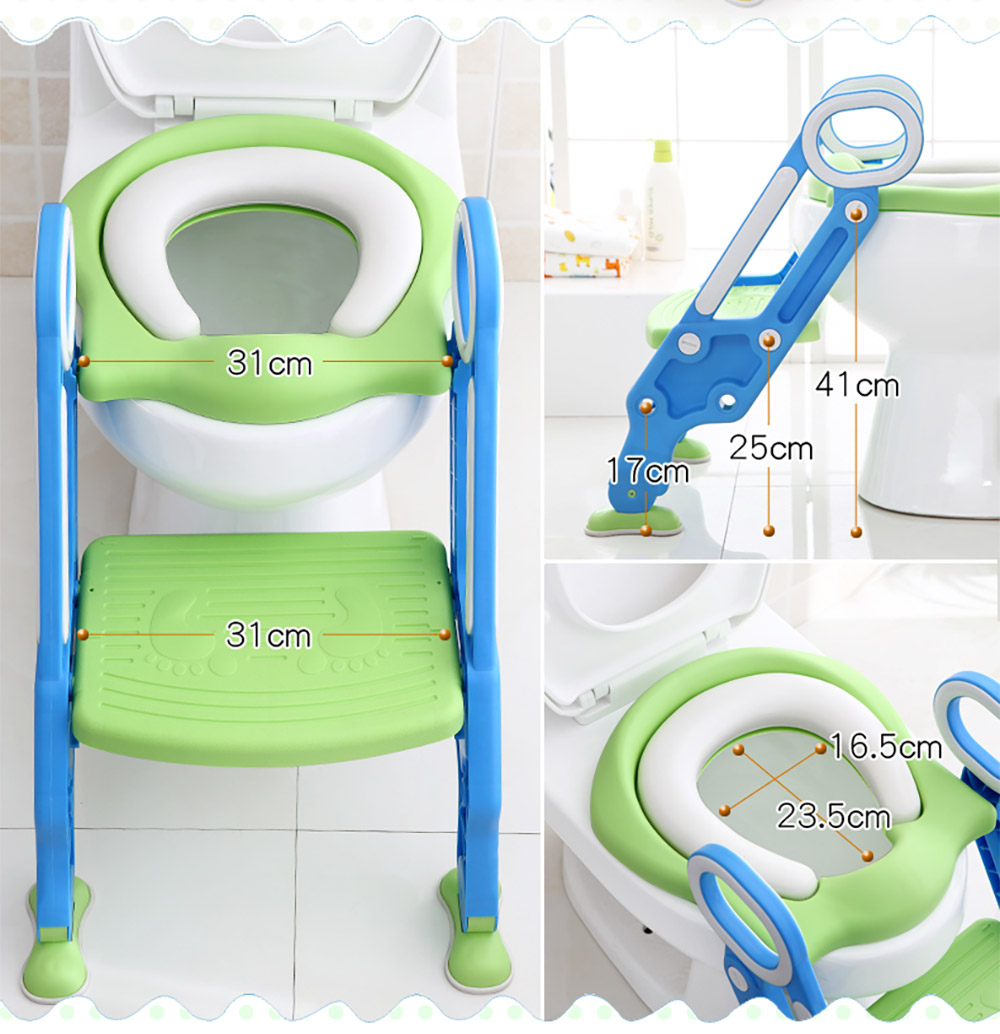 Toilet Training Seat with Non-slip Ladder for Girls Boys
