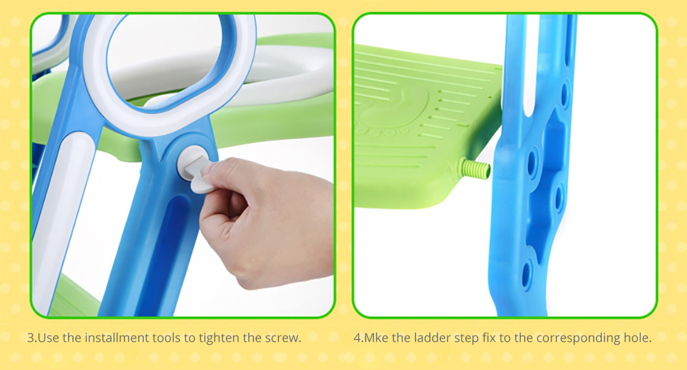 Potty Trianer with Step Tool Ladder for Kids