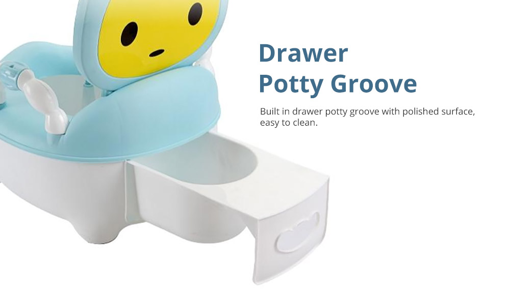 Multipurpose Toilet Training Seat with Soft PU Leather Cushion for Girls Boys Drawer Potty Trianer with Non-slip Mat Sturdy Armrest for 1-8 Years Old Kids Mini Closestool 10
