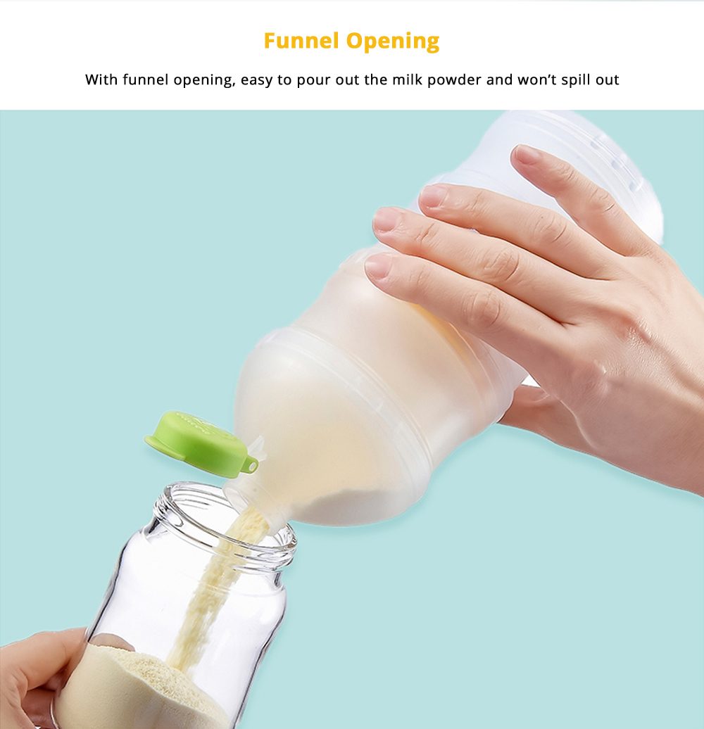 Portable Milk Powder Dispenser for Outdoors Shipping Travelling, 3 Layer Individual Food Organizer Case Snack Cups 11