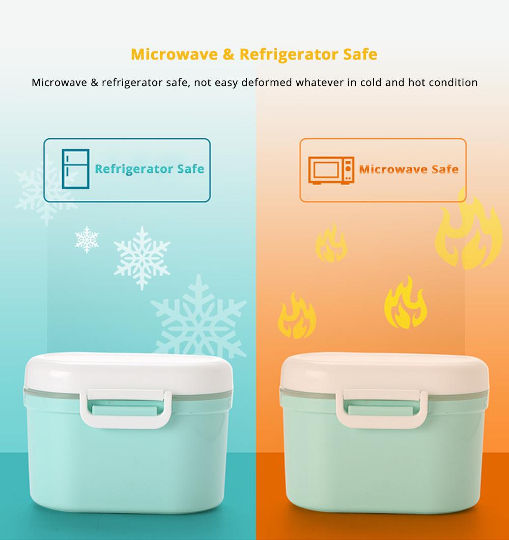 Multipurpose Milk Powder Storage Case Snack Cups, Microwave & Refrigerator Safe 12