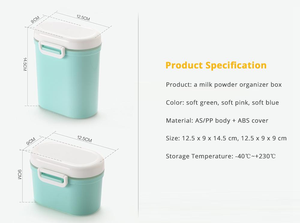 Multipurpose Milk Powder Storage Case Snack Cups, Microwave & Refrigerator Safe 14