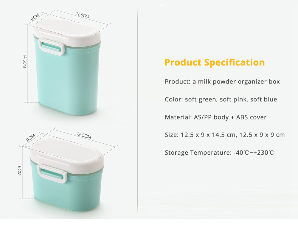 Milk Powder Organizer Box for Household Outdoors Shopping Travelling