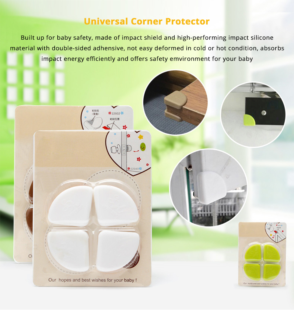 8 PCS Universal Flexible Collision Prevention Anti-impact Corner Protector with Double-sided Adhesive for Furniture Against Sharp Corners 6
