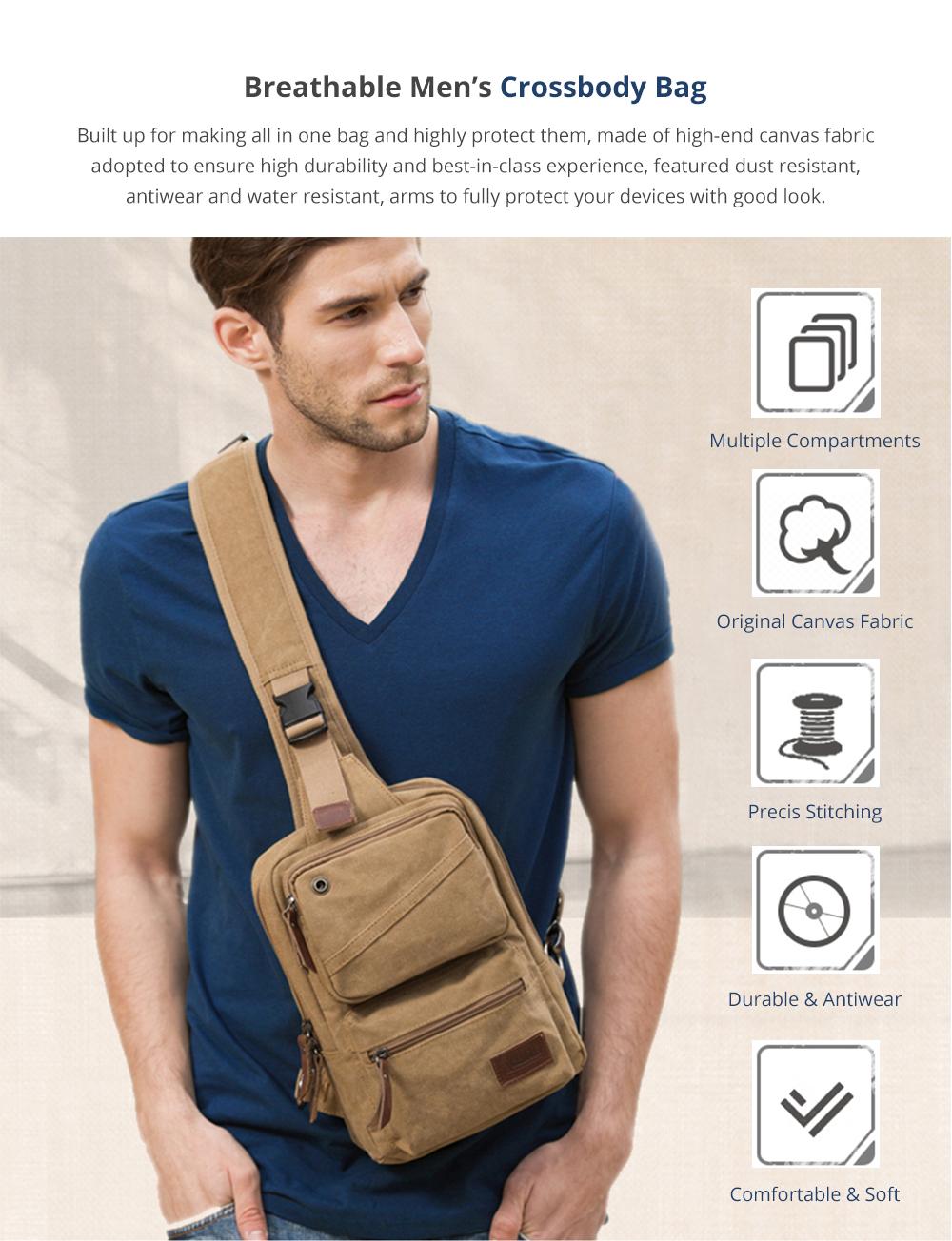 Breathable Men's Crossbody Bag