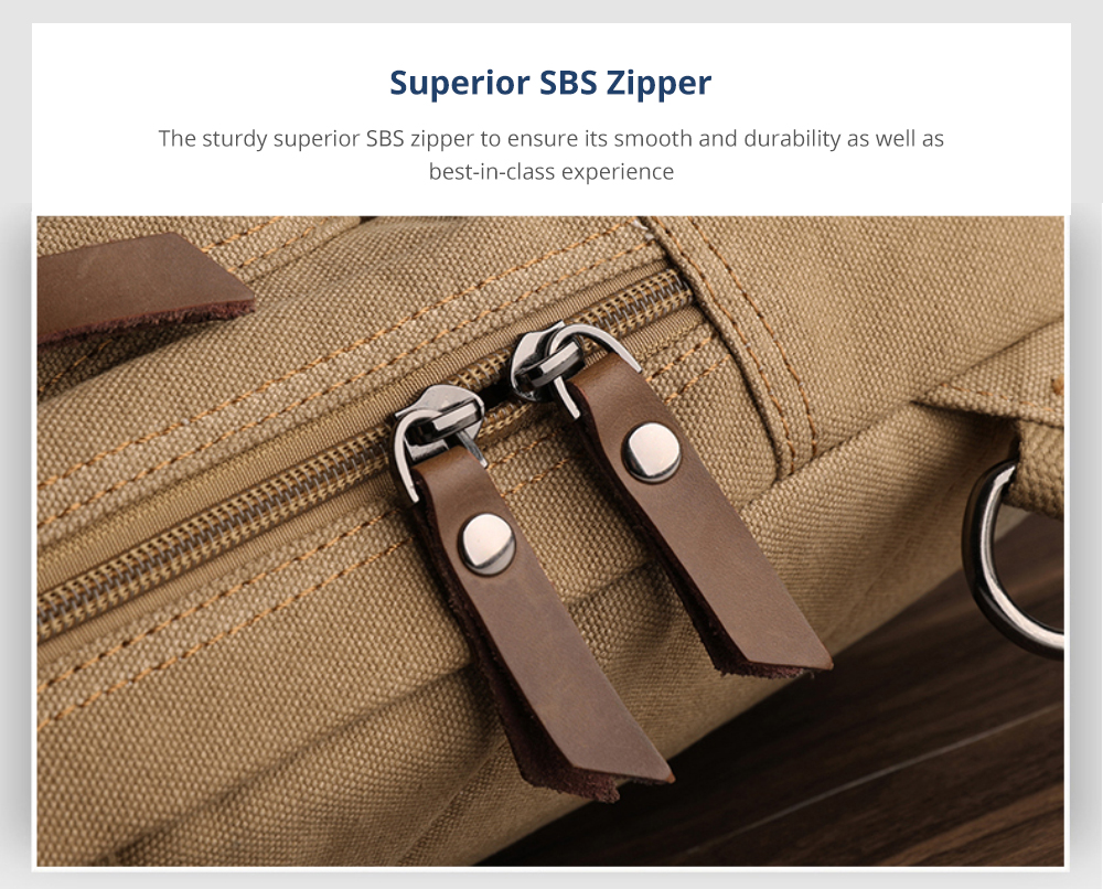 Men's Crossbody Bag with Superior SBS Zipper