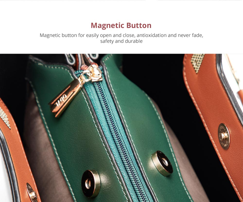 Elegant Women's Handbag with Magnetic Button, Stylish Women's Briefcase with Shoulder Strap 7