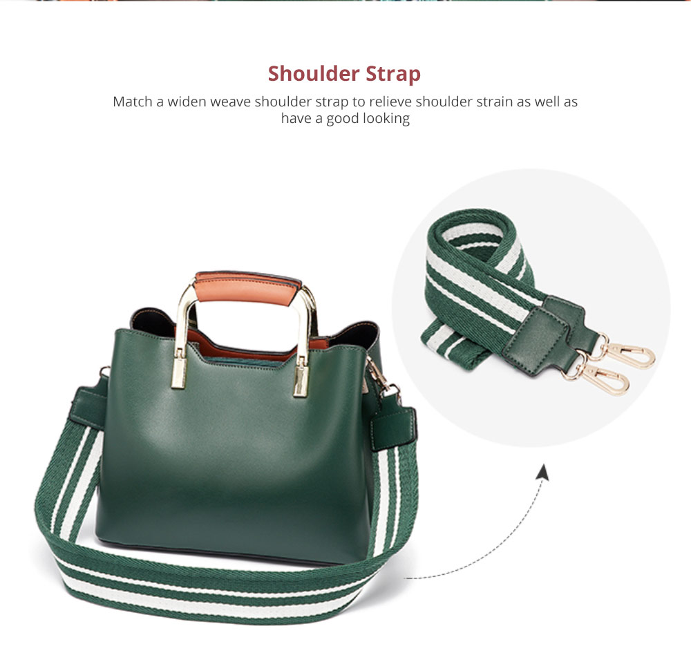 Elegant Women's Handbag with Magnetic Button, Stylish Women's Briefcase with Shoulder Strap 8