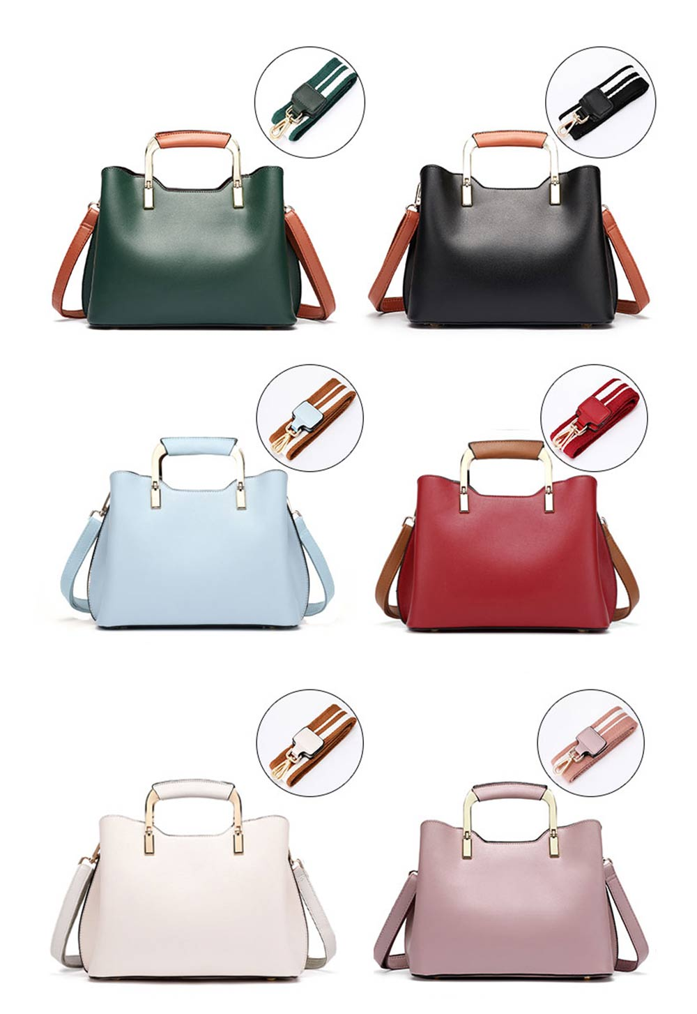 Elegant Women's Handbag with Magnetic Button, Stylish Women's Briefcase with Shoulder Strap 12