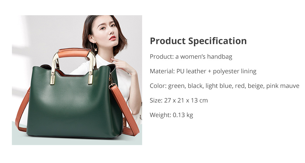 Elegant Women's Handbag with Magnetic Button, Stylish Women's Briefcase with Shoulder Strap 13